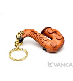 Saxophone Leather Keychain(L)