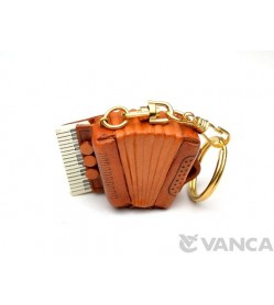 Accordion Leather Keychain(L)