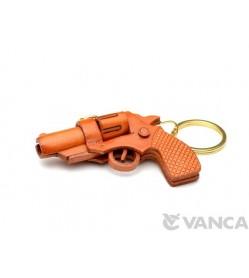 Gun (Pistol) Leather Keychain(L)