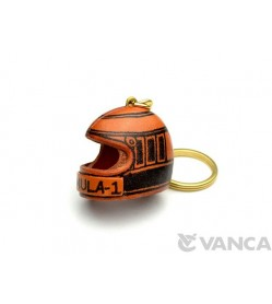 Racing Helmet Leather Keychain(L)