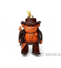 Sheriff Leather Keychain(L)
