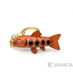 Yamame Trout Leather Keychain(L)