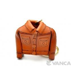 Jeans Jacket Leather Keychain(L)