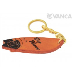 Surfboard Leather Keychain(L)