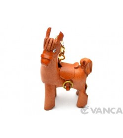 Pony Leather Keychain(L)