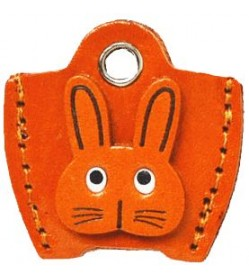 Leather Key Cover Cap Keychain Rabbit