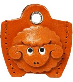 Leather Key Cover Cap Keychain Sheep
