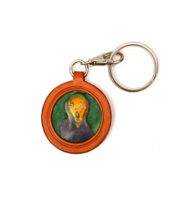 Munch's The Scream Leather plate Keychain