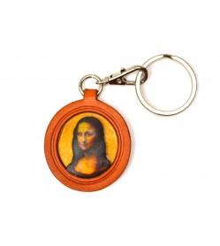 Da Vinci's Mona Lisa Leather plate Keychain