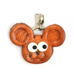 Mouse(small) Leather Animal Figuine/charm Chinese Zodiac Series