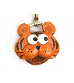 Tiger(small) Leather Figuine/charm Chinese Zodiac Series