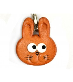 Rabbit(small) Leather Figuine/charm Chinese Zodiac Series