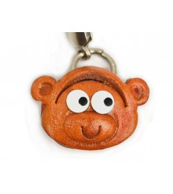 Monkey(small) Leather Animal Figuine/charm Chinese Zodiac Series