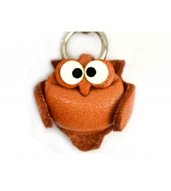 Owl(small) Leather Animal Figuine/charm