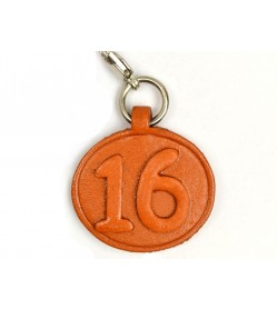 No.16 Leather Plate Birth date Series