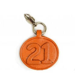 No.21 Leather Plate Birth date Series