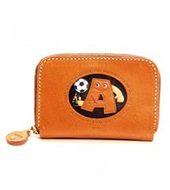 Soccer A Handmade Genuine Leather Animal Business Card Case #26166