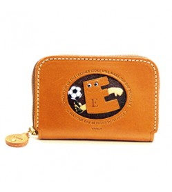 Soccer E Handmade Genuine Leather Animal Business Card Case #26168