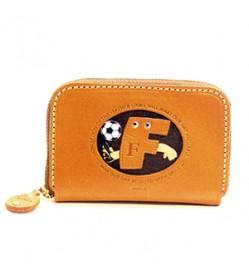 Soccer F Handmade Genuine Leather Animal Business Card Case #26169