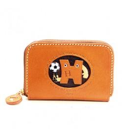 Soccer H Handmade Genuine Leather Animal Business Card Case #26171