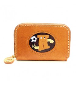 Soccer I Handmade Genuine Leather Animal Business Card Case #26172