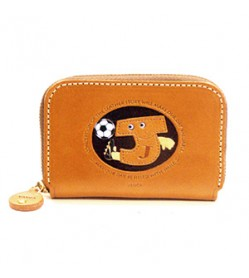 Soccer J Handmade Genuine Leather Animal Business Card Case #26173