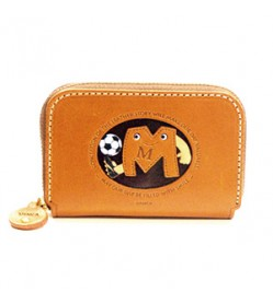 Soccer M Handmade Genuine Leather Animal Business Card Case #26175