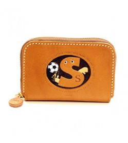 Soccer S Handmade Genuine Leather Animal Business Card Case #26179