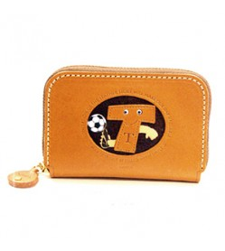 Soccer T Handmade Genuine Leather Animal Business Card Case #26180