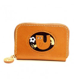 Soccer U Handmade Genuine Leather Animal Business Card Case #26181