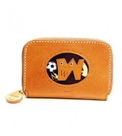 Soccer W Handmade Genuine Leather Animal Business Card Case #26182