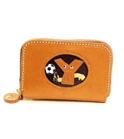 Soccer Y Handmade Genuine Leather Animal Business Card Case #26183