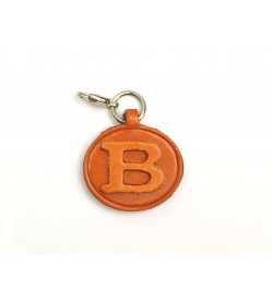 B Leather Alphabet Plate