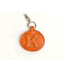 K Leather Alphabet Plate