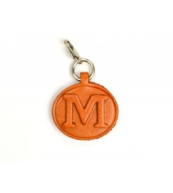 M Leather Alphabet Plate