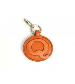 Q Leather Alphabet Plate
