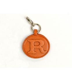 R Leather Alphabet Plate