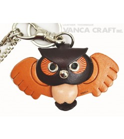 Owl Handmade Leather Animal/Bag Charm