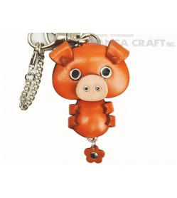 Pig Handmade Leather Animal/Bag Charm