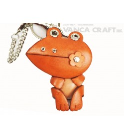 Frog Handmade Leather Animal/Bag Charm
