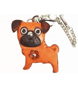 Pug Handmade Leather Dog/Bag Charm