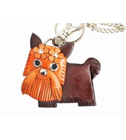 Yorkshire Terrier Handmade Leather Dog/Bag Charm