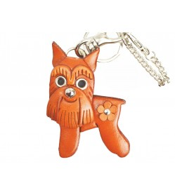Schnauzer Handmade Leather Dog/Bag Charm