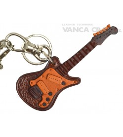 Electric Guitar Handmade Leather Goods/Bag Charm