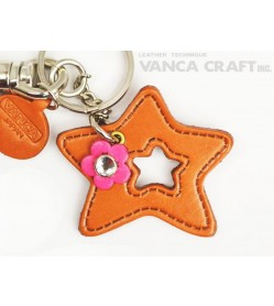 "Symbols  ""Star"" Leather Keychain Bag Charm"