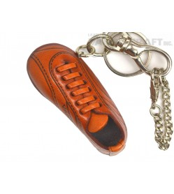 Soccer Shoe Handmade Leather Sports Keychain Bag Charm