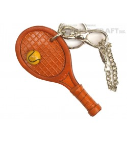 Tennis Racket Handmade Leather Sports/Bag Charm