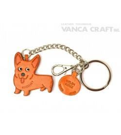 Welsh Corgi Leather Ring Charm #26075