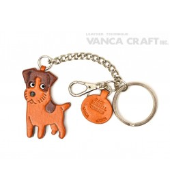 Jack Russell Terrier Leather Ring Charm #26063