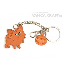 Chihuahua Long Haird Leather Ring Charm #26059